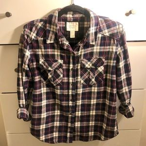 Forever 21 - Purple Flannel Shirt